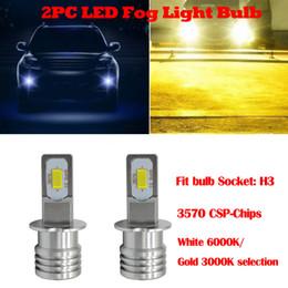 Wupp H3 LED Sis Ampul 3570 CSP-Cips LED Sis Lambası Ampuller Beyaz 6000 K / Altın 3000 K 30000 saat uzun ömürlü # 701Y20 nereden