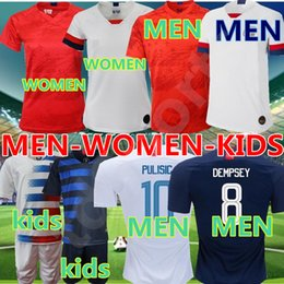 soccer jerseys united states Promo Codes - 19 20 America Home away USA Soccer Jersey 2019 copa america United States Soccer Shirt USA men KIDS Football SHIRT Uniform