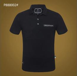 946d7cd624 designer polo homme Promotion T-shirt rayé décontracté pour homme 2019  nouvelle mode revers POLO