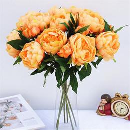Decorações de casamento on-line-2 Pcs Artificial Flores De Peônia Flores de Seda Artificial Para Art Decora Artificiales para Decoração de Casamento Em Casa Flor Falsa Barato