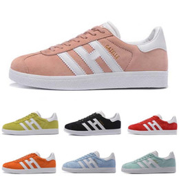 nice canvas shoes 2019 - Nice Gazelle Suede lady Low Cut Casual Flat Women s  sneaker Running ba31d27fa