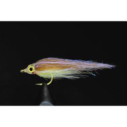 Argentina Tigofly 12 PC de Brown de oliva UV Polar Fry hunde lentamente Salmón Trucha Steelhead Minnow moscas de pesca señuelos Set-Tamaño # 8 Suministro