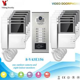 Canada Yobang Security RFID Caméra IP Intelligent IR Vision Nocturne Voix Interphone Vidéo Système de téléphone de porte pour Multi-Appartements / maison cheap voice security system Offre