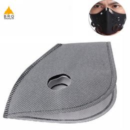 2019 luftfilter für fahrrad 5 Teile / los Masken Filter PM2.5 Smog Maske Fahrrad Radfahren Staub Luftverschmutzung Winter Gesichtsschutz Carbon Maske Filter Masken Ventil günstig luftfilter für fahrrad
