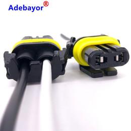 Suporte da lâmpada on-line-100 X Cable Cord Connector plug H11 9005 9006 Fio de energia de luz soquete lâmpada acende titulares Fiação Adapter Lâmpada Fog