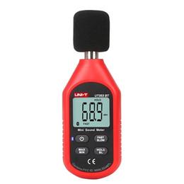 Sonomètres en Ligne-Uni-t Ut353bt Sonomètre Numérique Bluetooth Noise Meter Tester 30-130db Décibel Surveillance Sonomètres T8190619