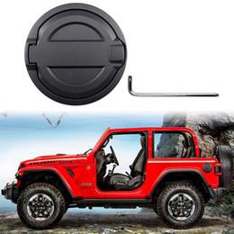 2019 tanque de combustível Tampão da tampa do gás da porta preta do tanque do óleo do enchimento de combustível cabido 2018-2019 Jeep Wrangler JL tanque de combustível barato