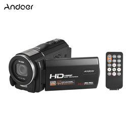Andoer DV Kaydedici Kamera LCD Dokunmatik Uzaktan Anti-shake 1080 P Full HD Dijital Video Kamera ile 24MP16X Dijital Zoom nereden gizli ip güvenlik kameraları tedarikçiler