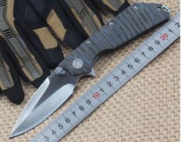cuchillo de supervivencia fuego Rebajas Mict Fire versión D.O.C muerte de contacto D2 TC4 Cuchillo de supervivencia plegable de titanio Cuchillo de camping Cuchillo de regalo Cuchillo de regalo 1pcs Adul