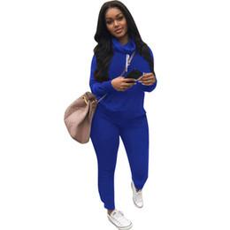 Golfe c on-line-C Marca Designer Mulheres Sweatsuit Heaps Collar 2 Peça Set Moletom Com Capuz Leggings Treino Sweat Shirt Calças Justas Sportswear Pullover Calças Outfits