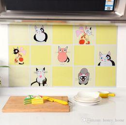 arte de parede espelho redondo Desconto 75x45 cm Cozinha Folha de Óleo DIY Adesivos De Parede Decor Sticker Art Home Decorações Suprimentos