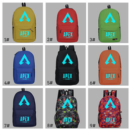 glow dark games Promo Codes - Apex legends backpack Glowing in Dark Respawn day pack New hero school bag Game packsack Luminous Storage Sport Outdoor bags TC190304