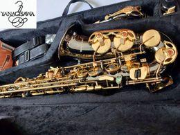 2019 alto sax or YANAGISAWA A-992 Haute qualité Marque NOUVEAU Saxophone Alto Argent Placage Clé d'Or Professionnelle Sax Embouchure Avec Étui Expédition promotion alto sax or
