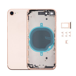 alloggi completi Sconti 10pcs OEM qualità per iPhone 8 8 Plus X XR sostituzione custodia S MAX completa copertura posteriore della batteria con la struttura di vetro posteriore di trasporto