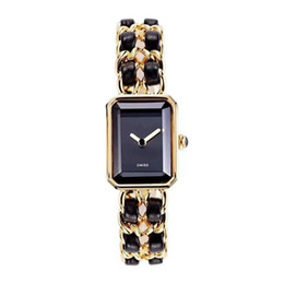 marcas de relógios de senhoras famosas Desconto Luxo 2019 Famosa Marca Mulher Pulseira Relógio de Pulso Moda Lady Dress Watch Atacado H0451 Relógio De Aço Inoxidável De Couro Genuíno Das Mulheres