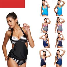 kleiner gesammelter bikini Rabatt Sommer Seaside Bikini Sexy Doppel Schultergurt Badeanzug Kleine Brust Gathered Frauen Schwimmen Tragen Schnell Trocknend Blau 27ss C1