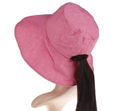 2019 capa de chuva plástica 2019 Nova Proteção UV Chapéus de Sol Moda Packable Chapéu de Verão Mulheres Rabo de Peixe Chin Strap Praia caps chapéus
