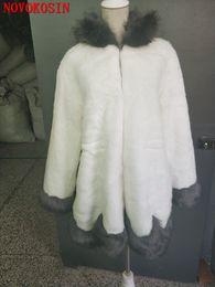 искусственная волосатая куртка Скидка SC305 искусственный мех пальто для женщин пушистый искусственный мех лисы пальто зимняя теплая куртка с длинным рукавом толстовки волосатая верхняя одежда со шляпой