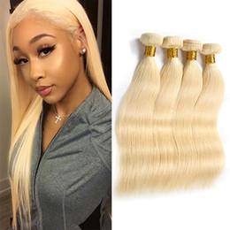 Hint Bakire Remy Insan Saç 613 Sarışın 4 Paketler Çift Atkı 8-30 inç İpeksi Düz Saç Uzantıları 4 Parça Bir Set supplier blonde remy indian hair extensions nereden sarışın remy indian saç uzantıları tedarikçiler