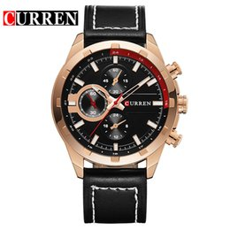 quartzo quartzo Desconto Curren homens relógio de quartzo japão movt relógio de pulso de negócios de negócios resistente à água relógio de pulso pulseira de couro de quartzo