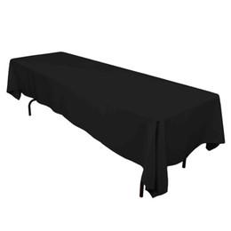 Table de mariage verte en Ligne-Meijuner Satin Nappe Double Cousu Bord 145cmx304cm Table Rectangulaire Nappe Solide Couvertures De Table Pour Le Banquet De Mariage T8190620