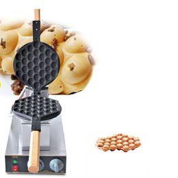Железные яйца онлайн-Коммерческий Электрический Яйцо Пузырь Вафельница Машина Eggettes Puff Cake Iron Maker Машина Cake Iron Maker