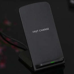 Geniales cargadores de iphone online-Q740 Cargador inalámbrico rápido con ventilador de refrigeración Portátil 2 bobinas Soporte de carga inalámbrico rápido para iPhone XS Max