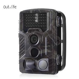 câmera escondida ao ar livre Desconto Venda Por Atacado HC - 800M 16MP Digital 2G caça câmera de visão noturna com GSM / GPRS Trail Camera preto 940nm sensor de 120 graus PIR