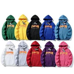 roupa hiphop frete grátis Desconto Mens Designer solto Moletons alta qualidade para os homens e mulheres Hoodies Jacket Preto Branco cores do tamanho S - XXL