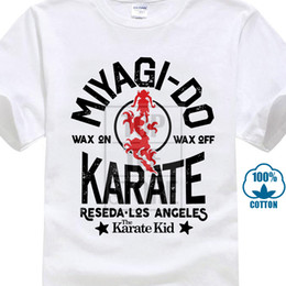 Karate Kid Wax On Wax Off Adult T Shirt Great Classic Movie