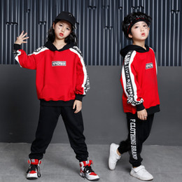 girls wearing hoodie Coupons - Kids Cool Hip Hop Hoodies Clothing for Girls Boys Sweatshirt Tops Jogger Pants Jazz Dance Costumes Ballroom Dancing Clothes Wear