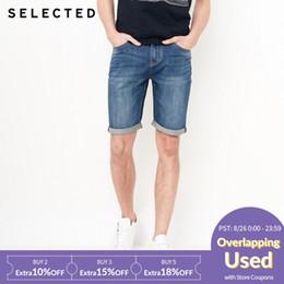 jeans de lycra Rebajas estiramiento ligero Lycra pantalones cortos de jean ocio C | 4182S3512