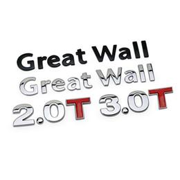 decoración de la pared del coche 3d Rebajas Para WEY VV7 VV7c VV7s Great Wall Hover h3 h5 h6 m4 C30 Wingle 3D Coche de Metal Etiqueta de Emblema de Etiqueta de Emblema de Auto Etiqueta