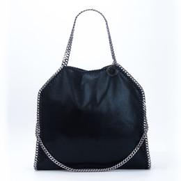 Schneidkette online-Stella Mccartney Frauen Tote Bag Big Size-Veloursleder drei Slings Diamond Cut Ketten Einkaufen mit Clutch
