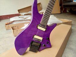 Nouveau Fan Fretted Headless Electric Guitar Violet B Bridge Big John Style Chine ? partir de fabricateur