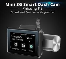 nueva llegada de la rociada leva GPS track punto de acceso wifi 2 maneras que habla 3G de la cámara DVR 1080P HD coche con tarjeta mini SIM video ocultado wifi K9 desde fabricantes