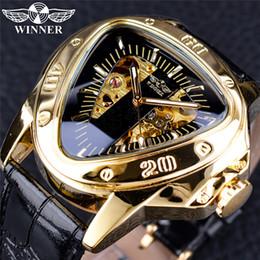 2019 homens triângulo relógio Top Fashion 2019 Vencedor de Luxo Mens Relógios De Ouro Automático Mecânica Oco Triângulo Mostrador Grande relógios de Pulso Dos Homens Designer orologio di lusso homens triângulo relógio barato