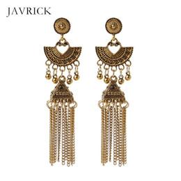 Vintage Bijoux Gypsy ethnique indien paon Boucles D/'Oreilles Jhumka JHUMKI oreille Stud Cadeau