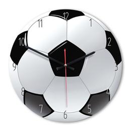 Reloj de madera para niños online-Reloj de pared decorativo para el hogar Reloj de pared de madera de estilo deportivo Sala de estar Dormitorio Habitación para niños