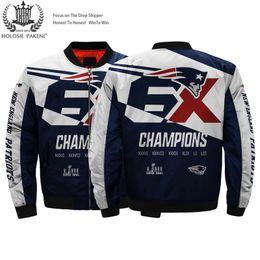 Chaquetas de traje online-Dropshipping EE. UU. Tamaño de los hombres chaqueta de bombardero New England State Patriots capa traje hecho vuelo 3D MA-1 chaqueta de béisbol