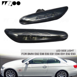 2019 señal de giro mazda 1 par para BMW E88 E60 E61 E90 E91 E92 E93 LED negro indicador de giro luces de luz de señal