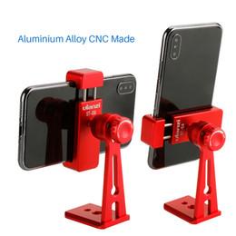 trípodes ajustables Rebajas Ulanzi ST-04 Adaptador de Montaje en Trípode Vertical 360 Rotación Clipper Soporte para iPhone X 8 7 Huawei Samsung Xiaomi Envío gratis