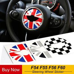 Volante do carro adesivos cobre decoração para mini cooper jcw f54 f55 f56 f60 car styling de