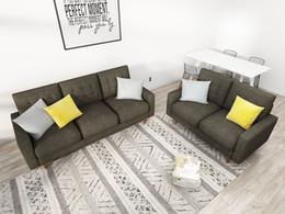 amerikanisches möbel schlafzimmer Rabatt Queenshome Möbel Haus Wohnmöbel Luxus Sofa Zhongshan Maschinen 3 Braut Sitz modernen Stil einfachen Wohnzimmer sofa11