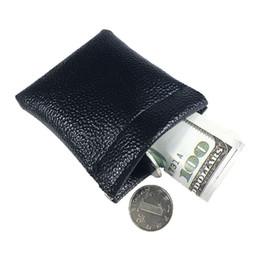 Мужчины кожаные монеты онлайн-Soft Card Coin Key Holder Metal Spring Closure Leather Wallet Pouch Bag Purse Gift New for Men Women