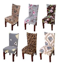 Capas de cadeira de spandex marrom on-line-Dreamworld 1pc Chair Covers Spandex Brown Sliver Elastic Chair Covers Estilo americano para cadeiras casamento Jantar Restaurante