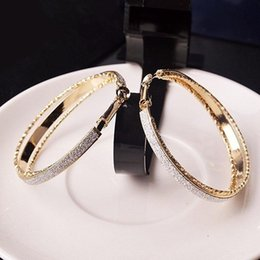 54b478caba0a Vogue Lady Women s Vintage Jewelry Dull Polish Drop Round Party Big Hoop  Earrings