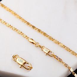 collar cadena hombre 925 2mm Rebajas 18 k chapado en oro cadenas collares para hombres mujeres 20 pulgadas 2 mm Neckalce 925 enlace de plata esterlina collar de cadena de joyería de lujo regalos