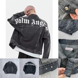 estilo de lavagem jeans Desconto Palma Anjos 19ss jaqueta jeans Mens Mulheres Casual Streetwear Moda melhor qualidade Lavar casaco velho estilo Casacos Casacos Casacos vetements