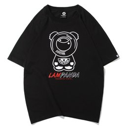 Pandabildhemd online-Independent Original Panda Druck Rundhals Kurzarm T-Shirt Gezeiten junge Männer und Frauen verlieren großes halbes Ärmel Shirt